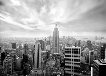 Skyline New York - black and white wall mural